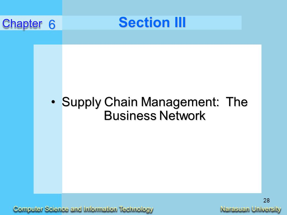 Supply Chain Management: The Business Network