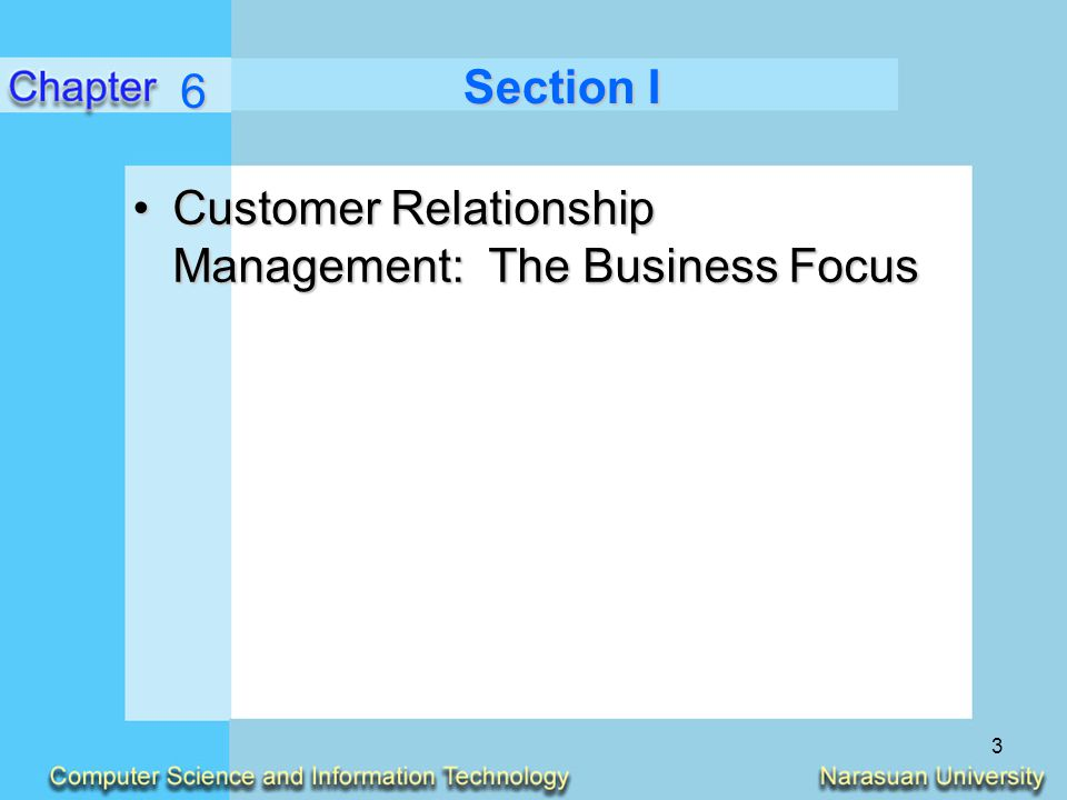6 Section I Customer Relationship Management: The Business Focus