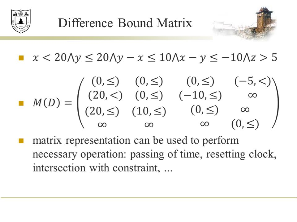 Difference Bound Matrix