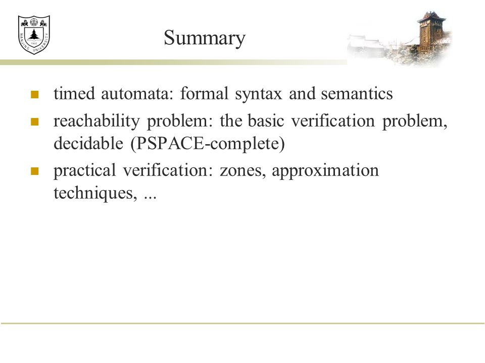 Summary timed automata: formal syntax and semantics