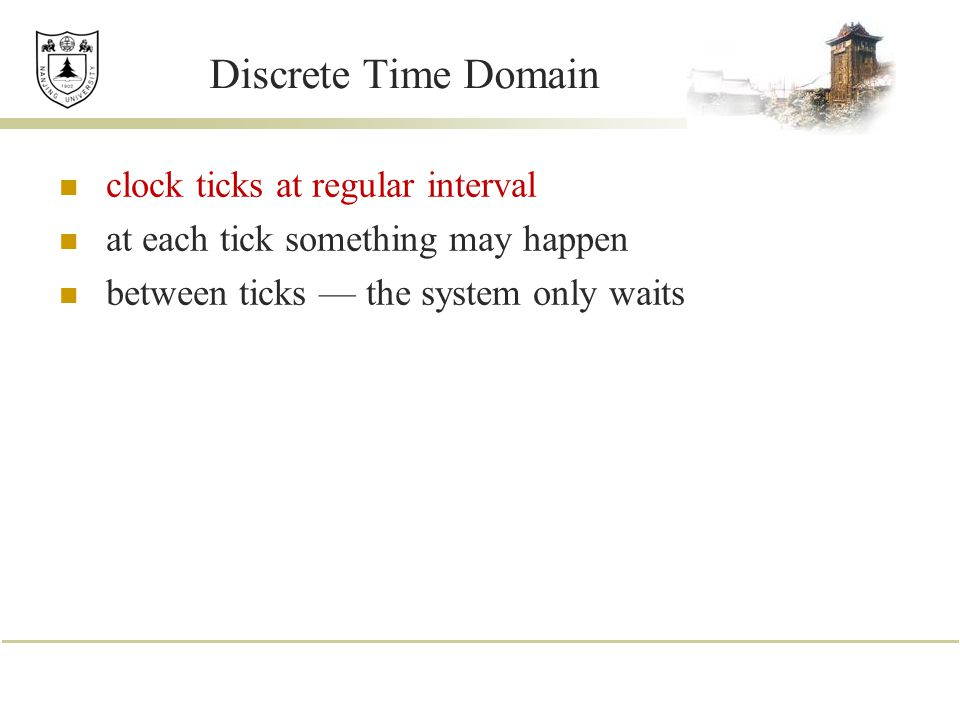 Discrete Time Domain clock ticks at regular interval