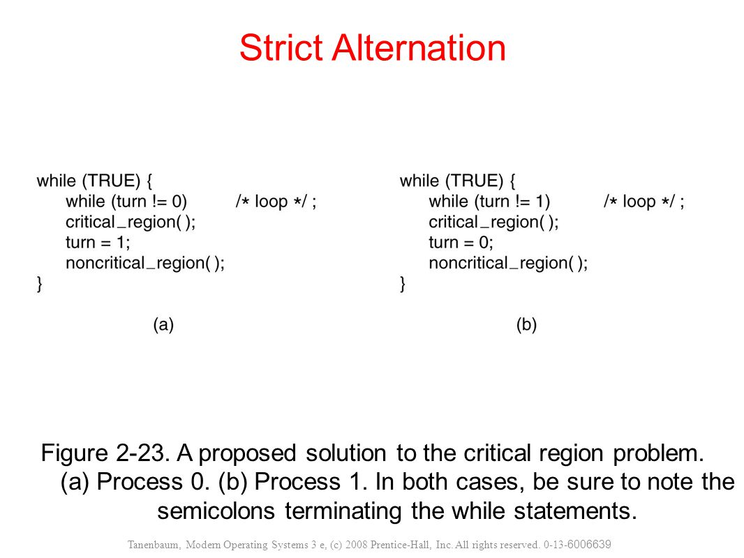 Strict Alternation