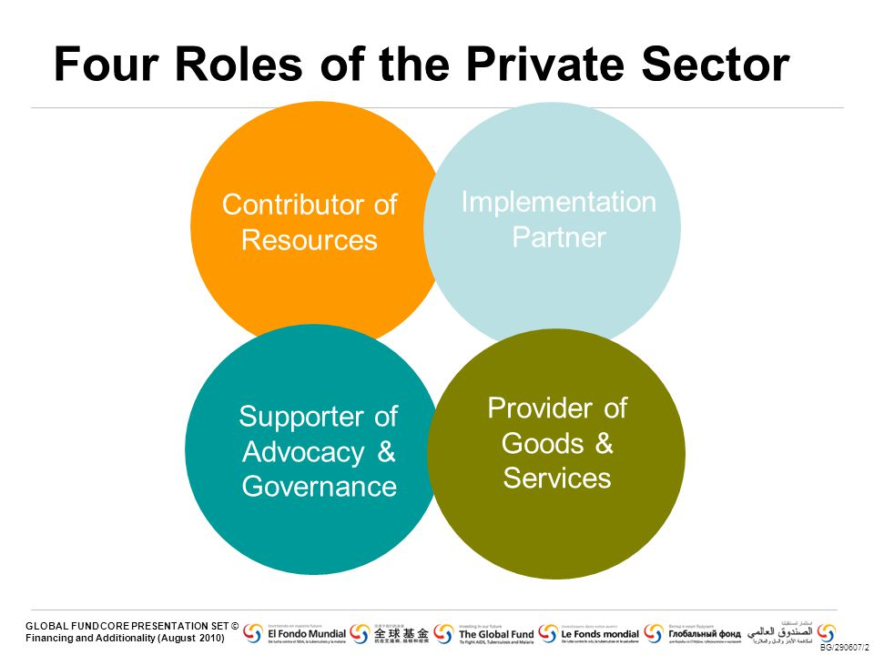 Four Roles of the Private Sector