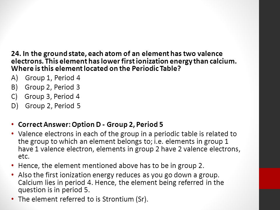 The periodic table regents review ppt video online download in the ground state each atom of an element has two valence electrons urtaz Image collections