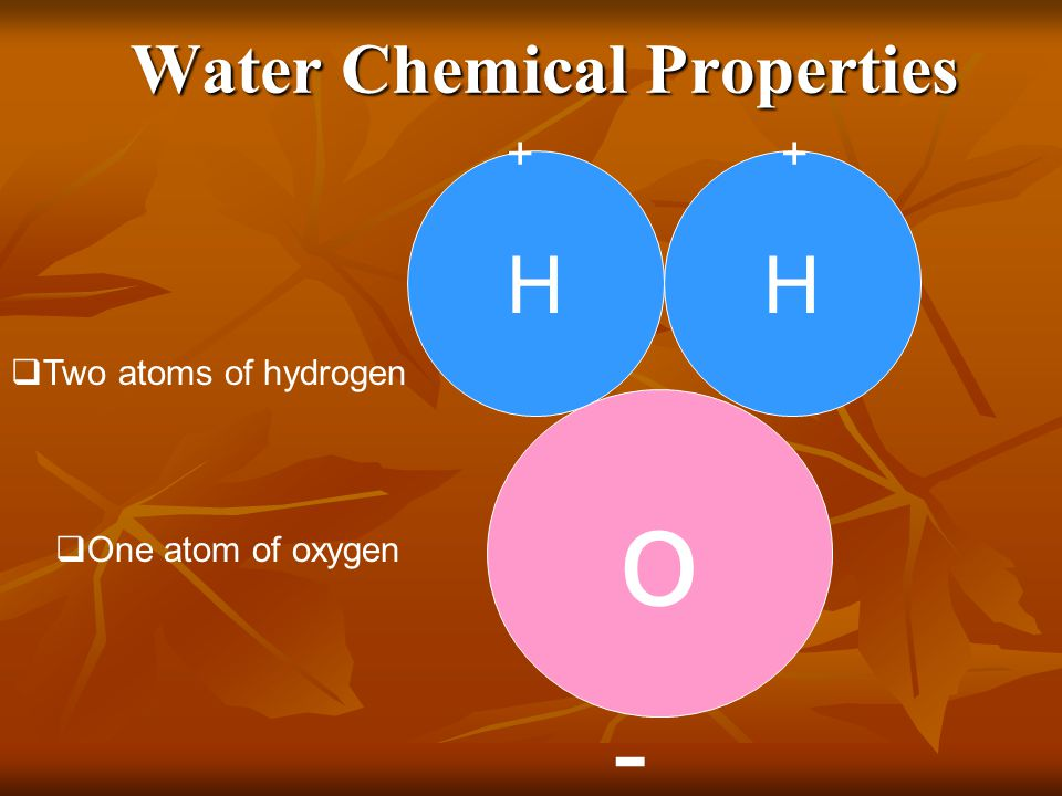 Water Chemical Properties