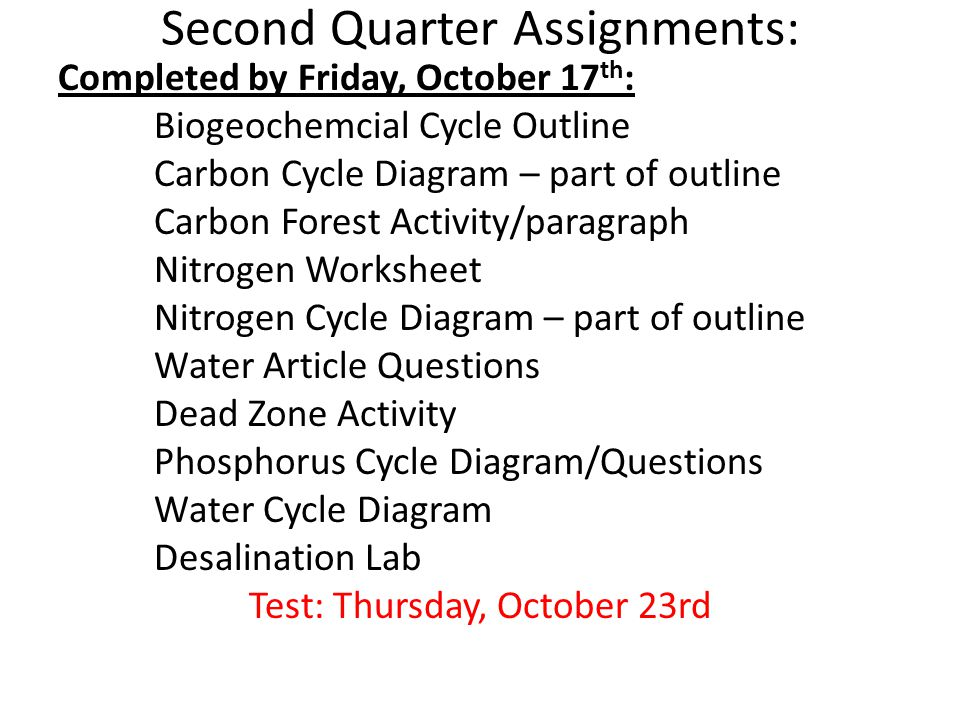 Ms mccann environmental science ppt download 25 second quarter assignments ccuart Choice Image