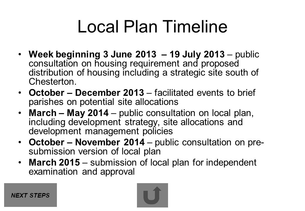 Local Plan Timeline