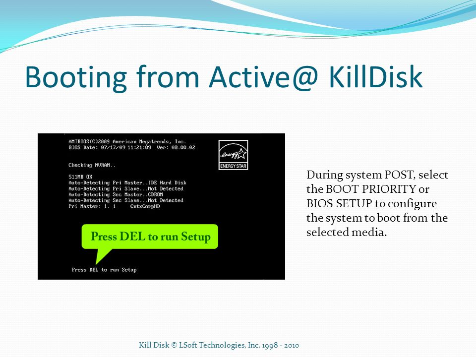 Booting from KillDisk
