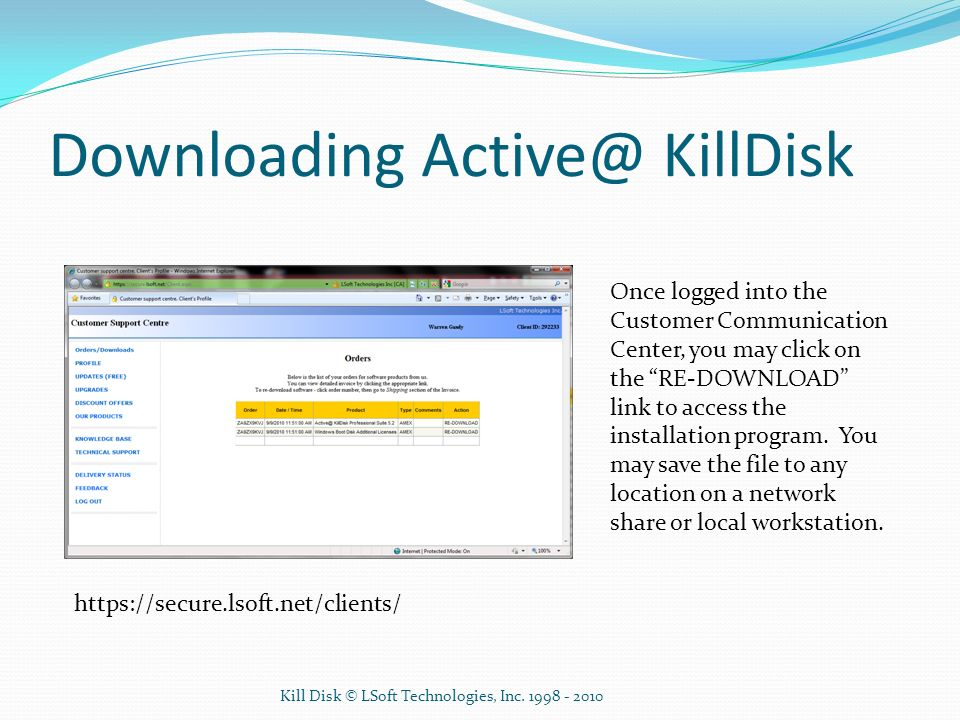 Downloading KillDisk