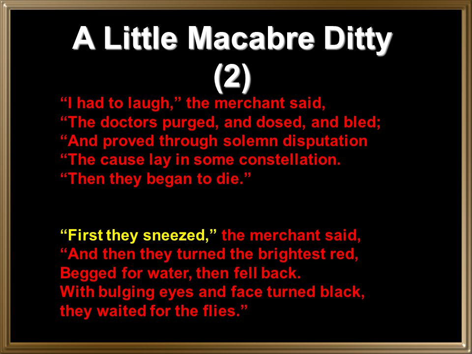 A Little Macabre Ditty (2)
