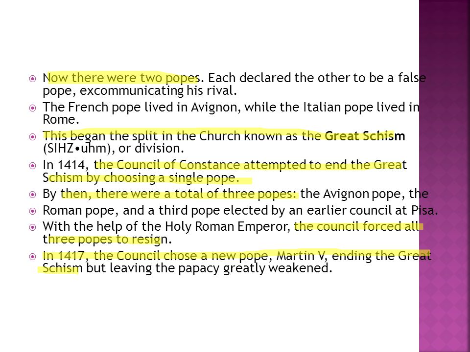 Now there were two popes