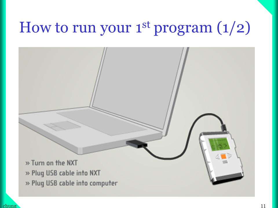 How to run your 1st program (1/2)