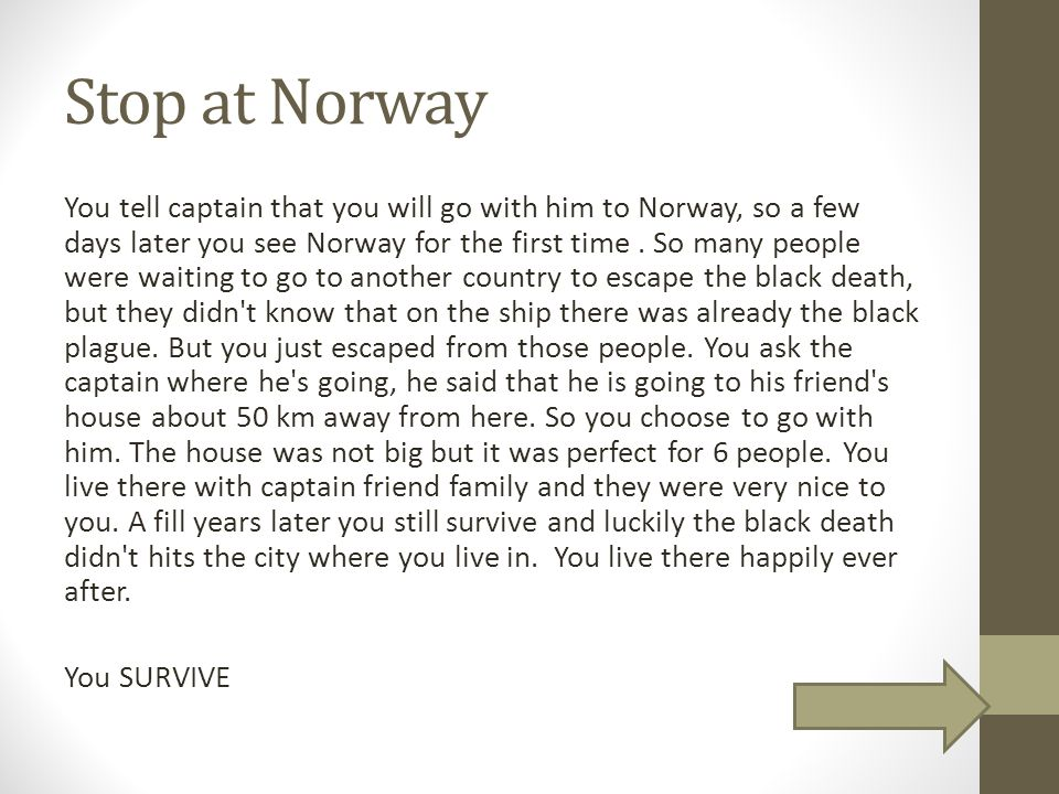Stop at Norway
