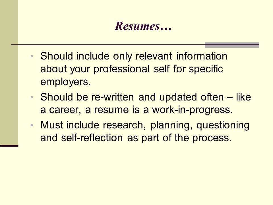 Writing Winning Resumes Marketing Your Professional Self Ppt. 45 Resumes Should Include. Resume. What A Resume Should Include At Quickblog.org