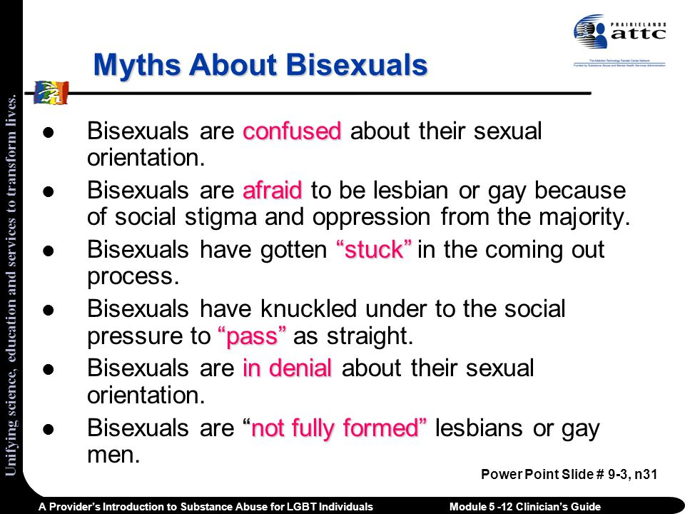 Bisexual women facts consider, that