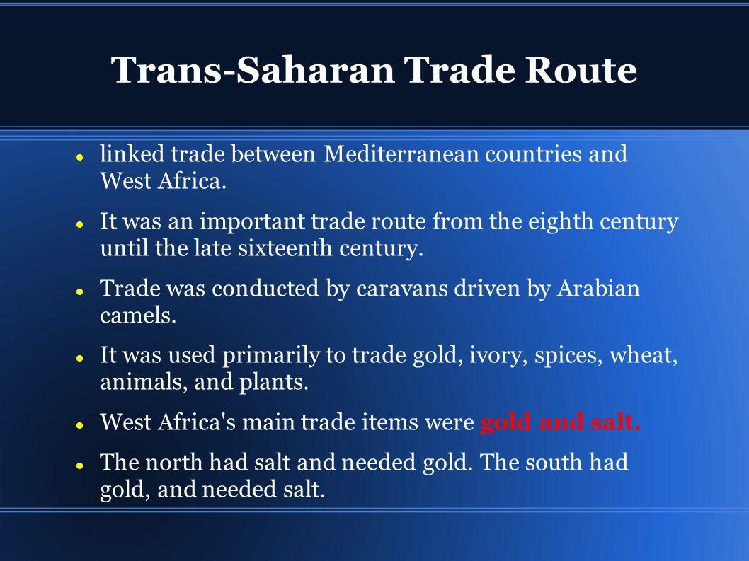 meaning of trans saharan trade
