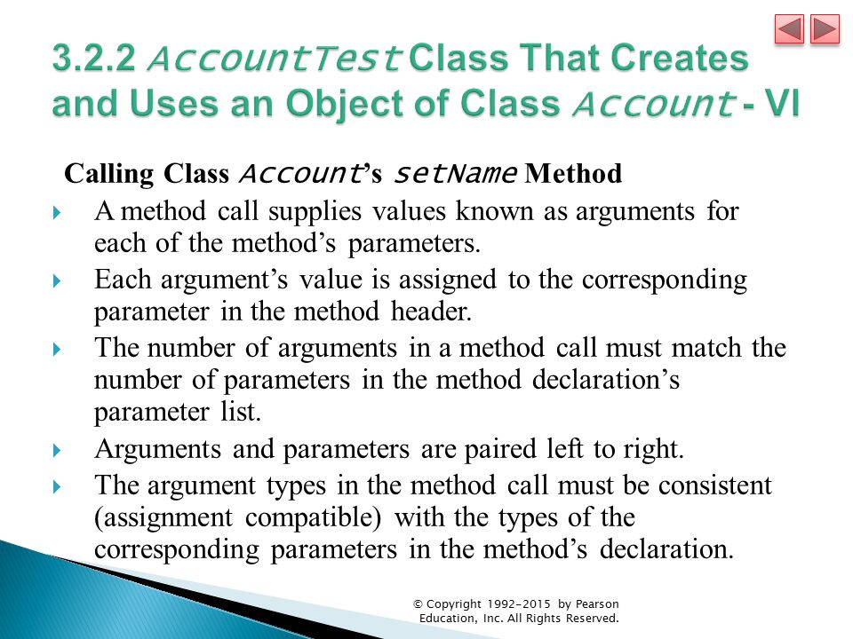 3.2.2 AccountTest Class That Creates and Uses an Object of Class Account - VI