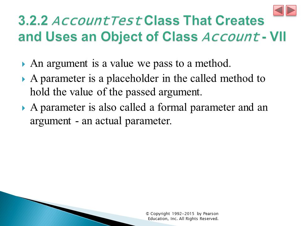 3.2.2 AccountTest Class That Creates and Uses an Object of Class Account - VII