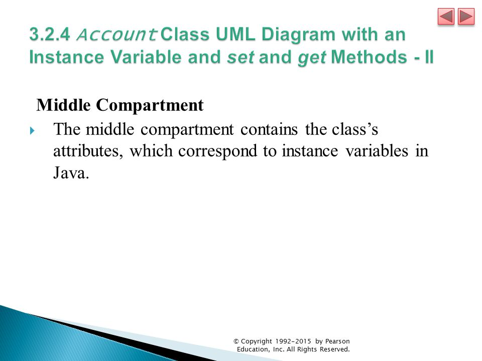 3.2.4 Account Class UML Diagram with an Instance Variable and set and get Methods - II
