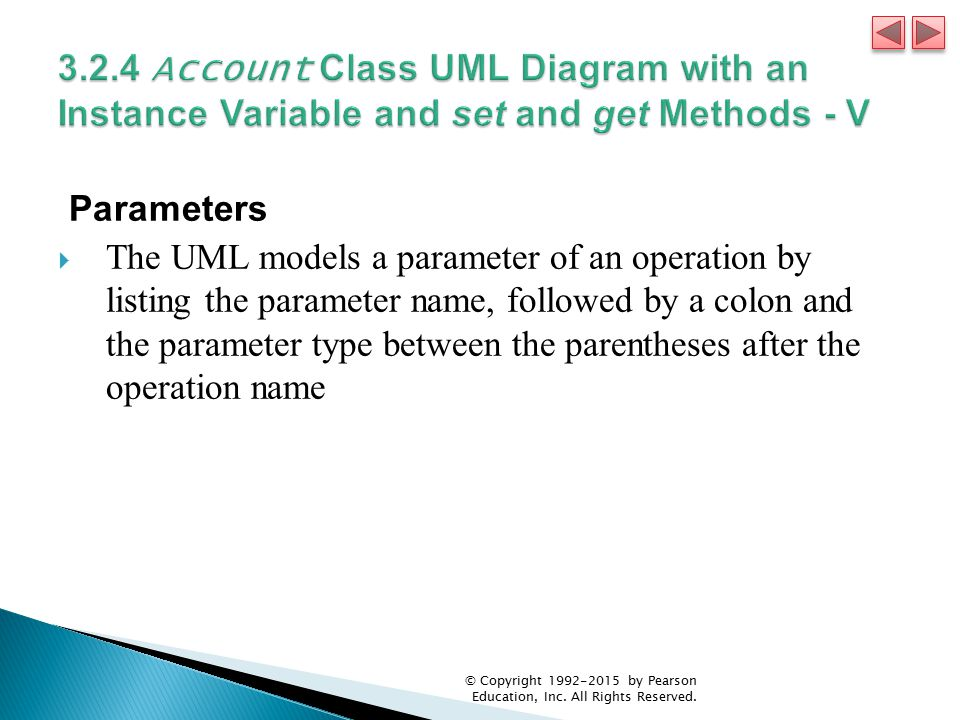 3.2.4 Account Class UML Diagram with an Instance Variable and set and get Methods - V