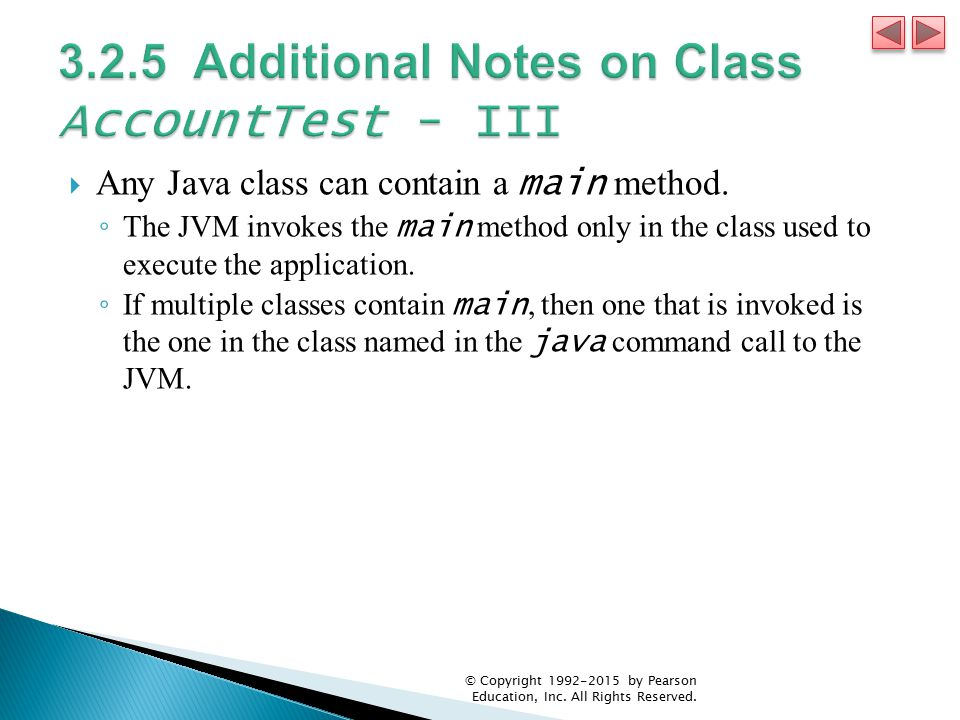 3.2.5 Additional Notes on Class AccountTest - III