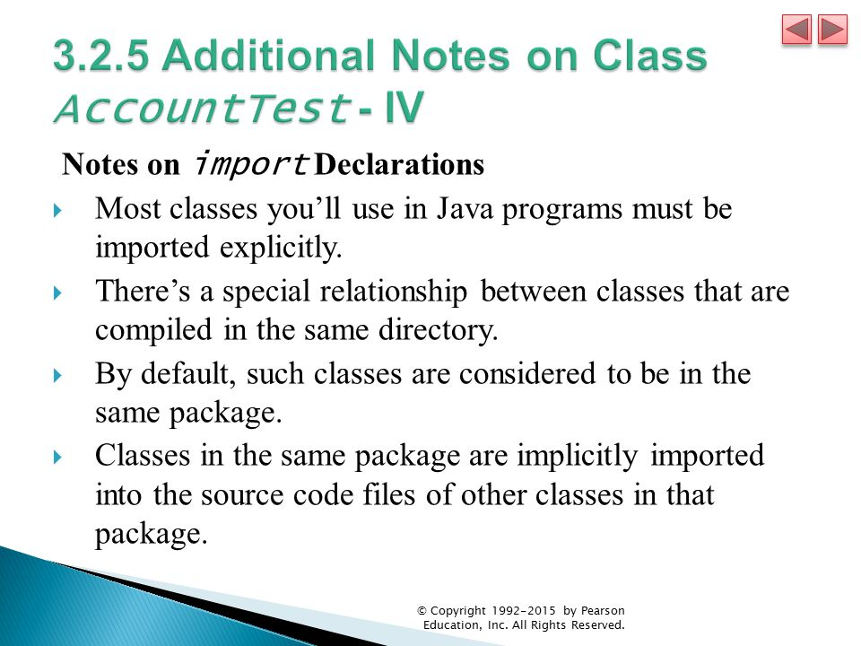 3.2.5 Additional Notes on Class AccountTest - IV