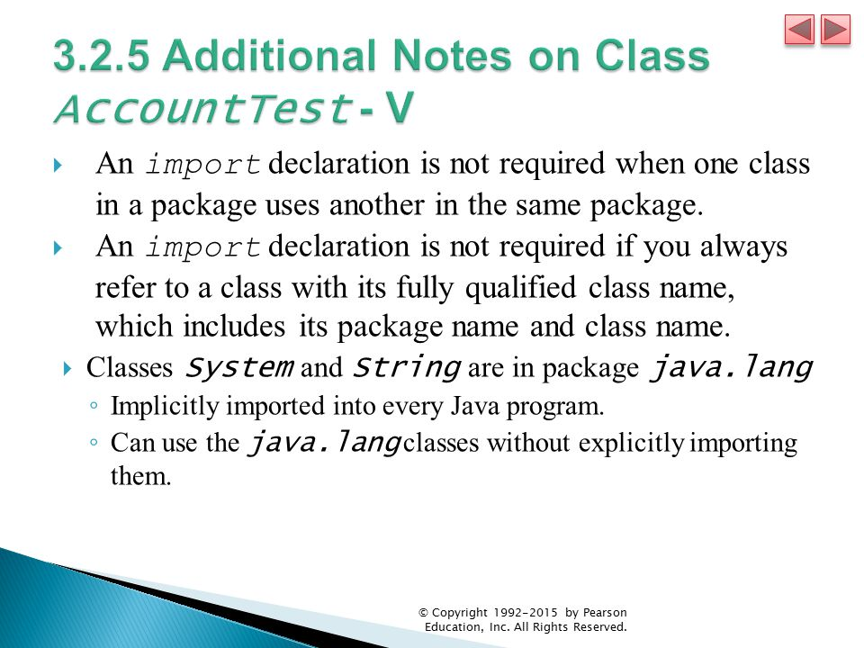 3.2.5 Additional Notes on Class AccountTest - V
