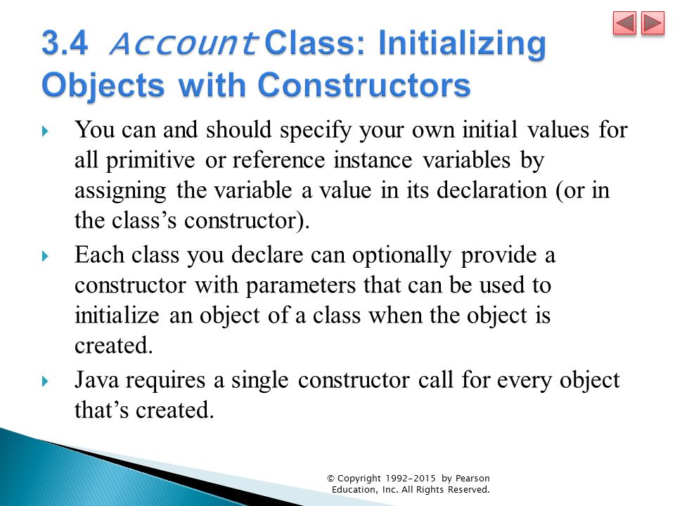 3.4 Account Class: Initializing Objects with Constructors