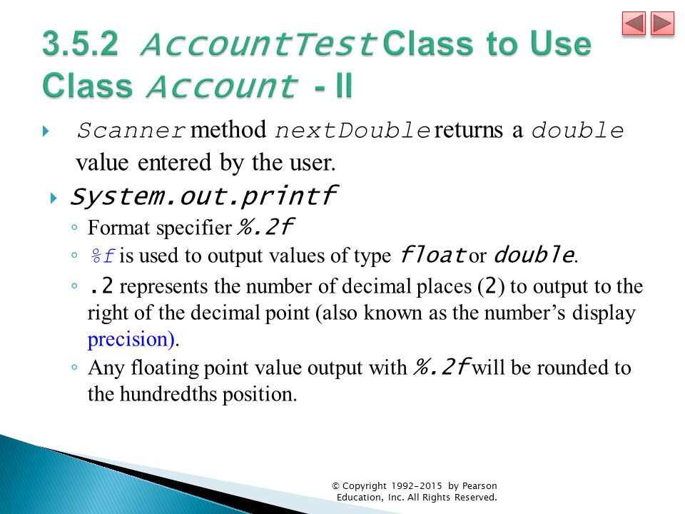 3.5.2 AccountTest Class to Use Class Account - II