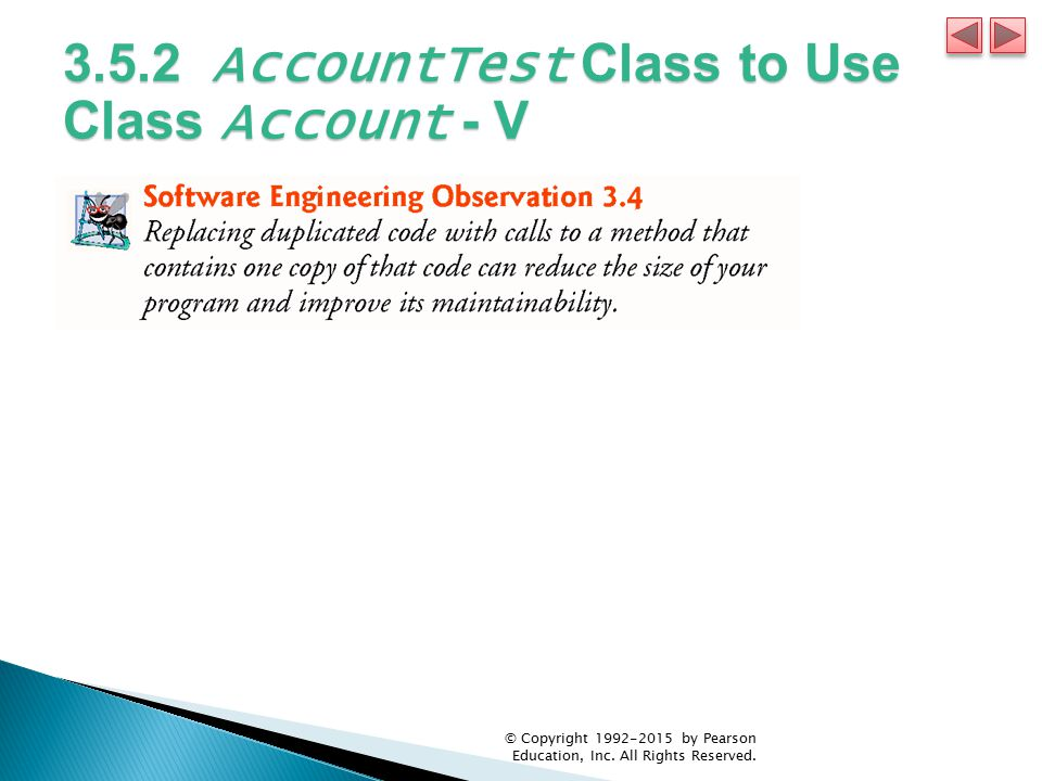 3.5.2 AccountTest Class to Use Class Account - V