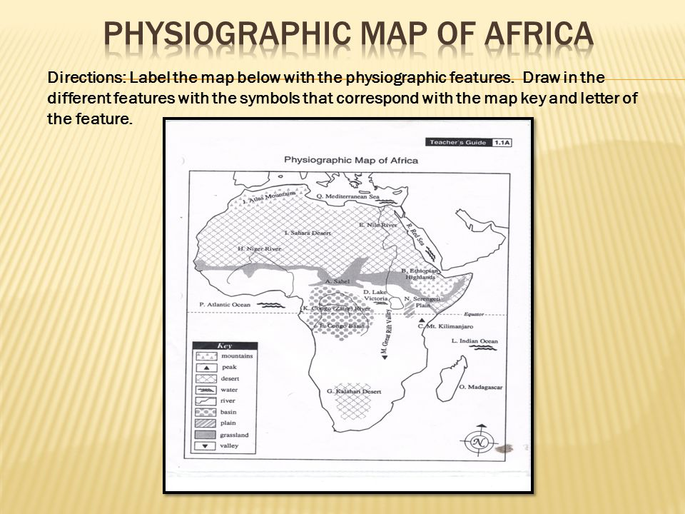 Mapping the Physiographic Features of Africa   ppt video online