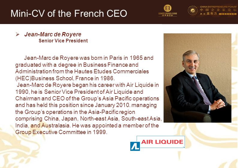 Photo of the CEO (mandatory)