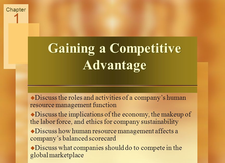Gaining a Competitive Advantage