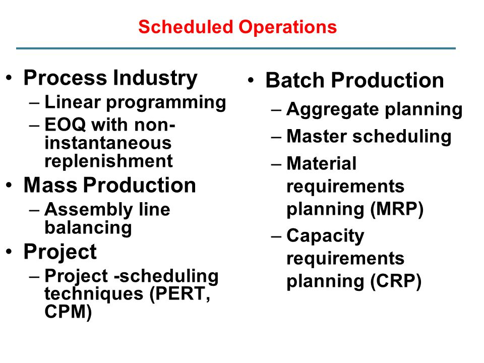 Batch Production Process Industry Mass Production Project