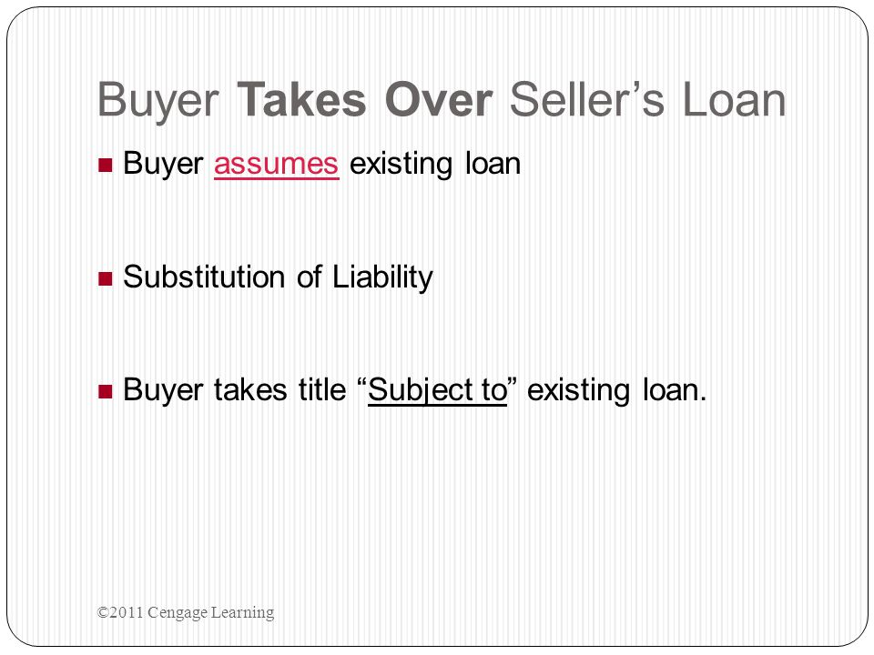 Buyer Takes Over Seller's Loan