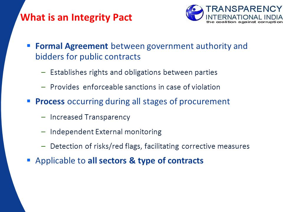 What is an Integrity Pact