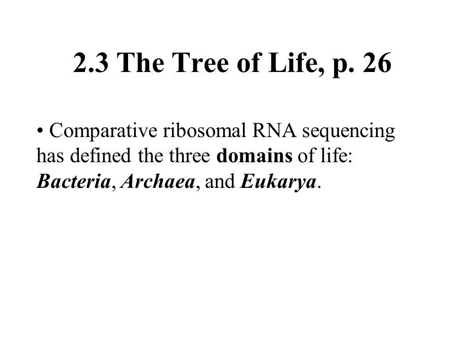2.3 The Tree of Life, p.