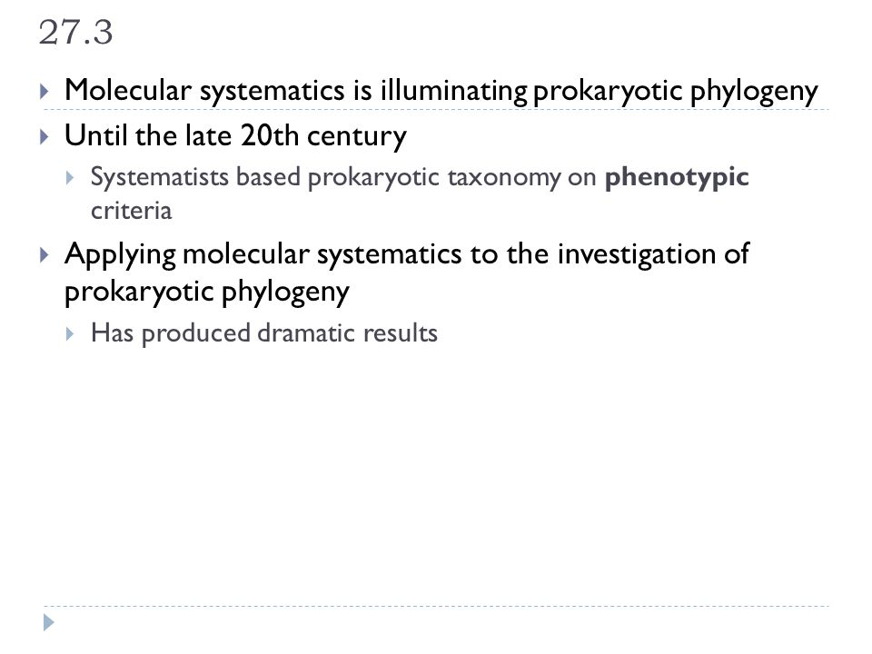 27.3 Molecular systematics is illuminating prokaryotic phylogeny