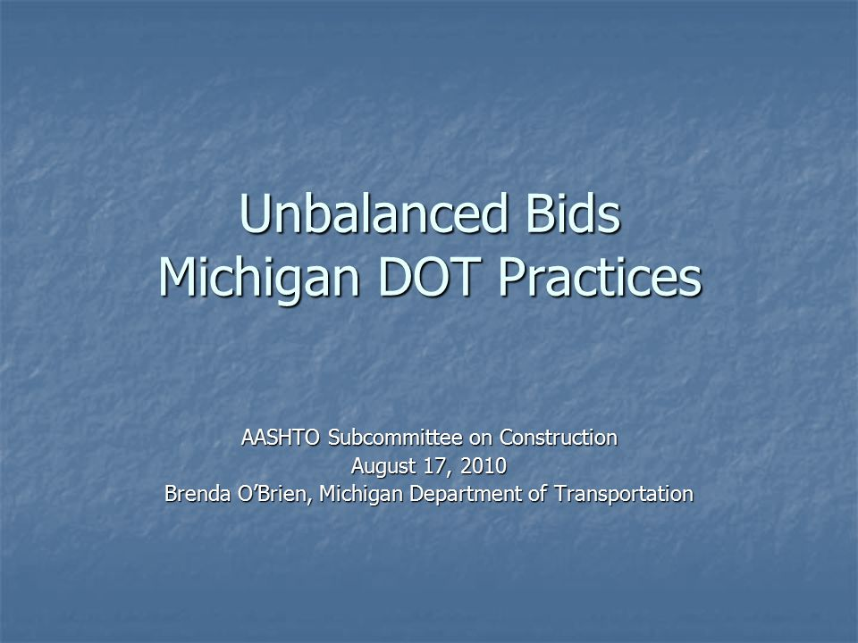 AASHTO Subcommittee on Construction Contract Administration