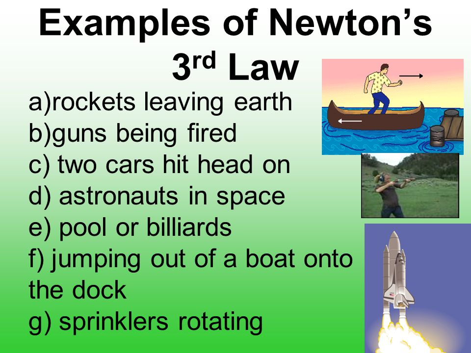 examples of newtons 3rd law