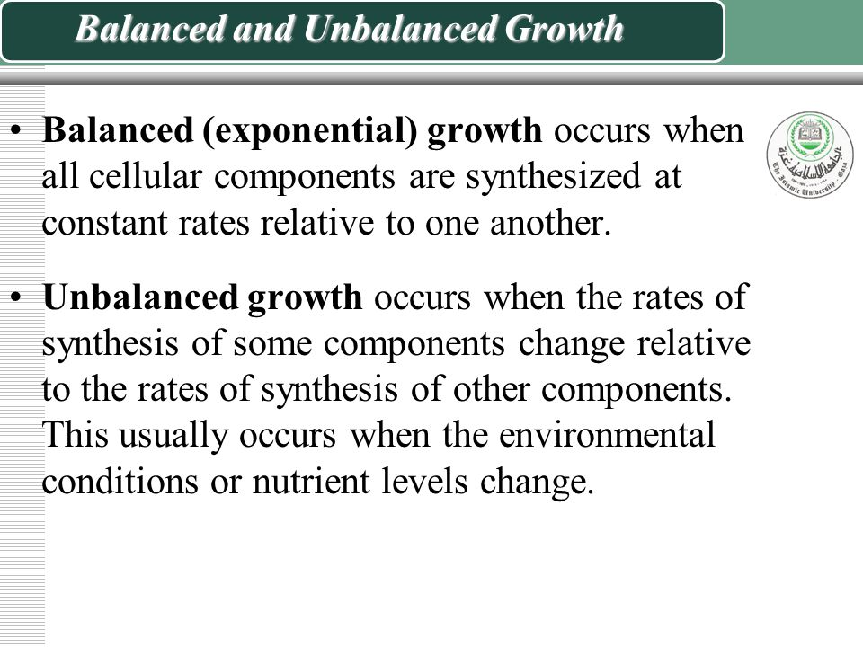 Balanced and Unbalanced Growth