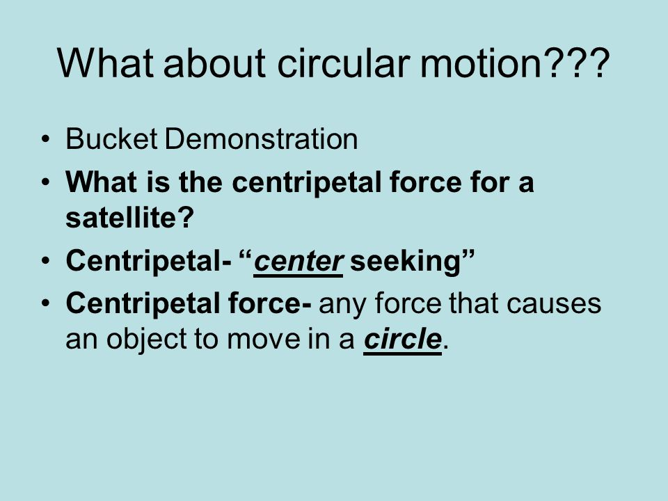 What about circular motion