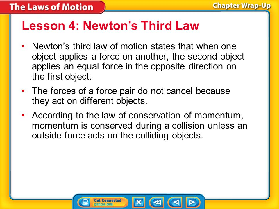 Lesson 4: Newton's Third Law