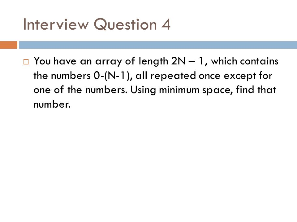 Interview Question 4
