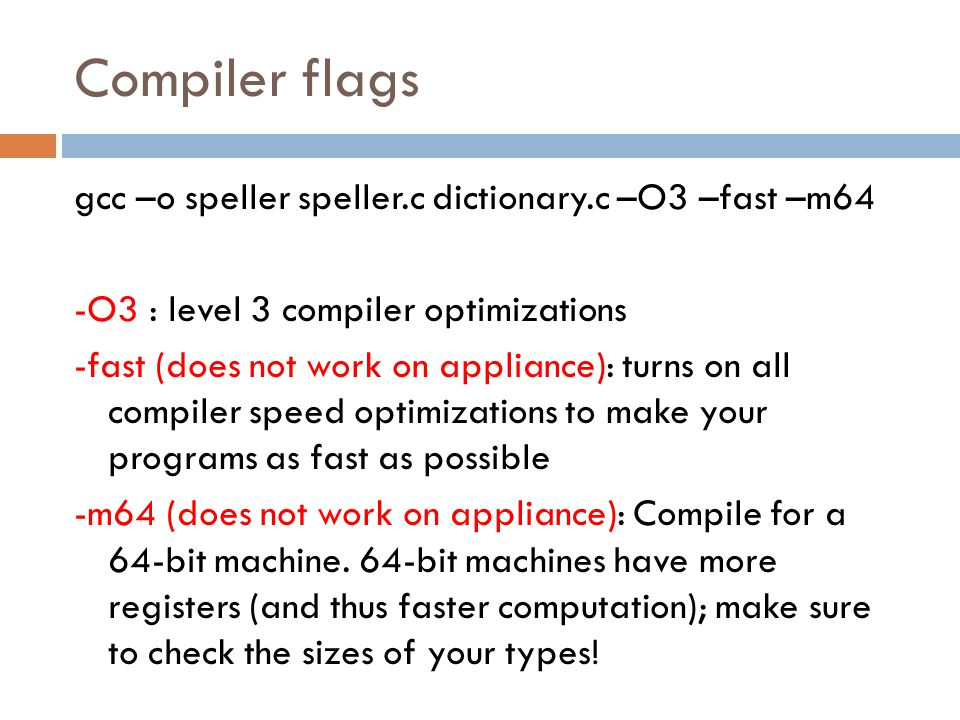 Compiler flags
