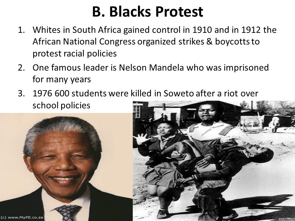 B. Blacks Protest