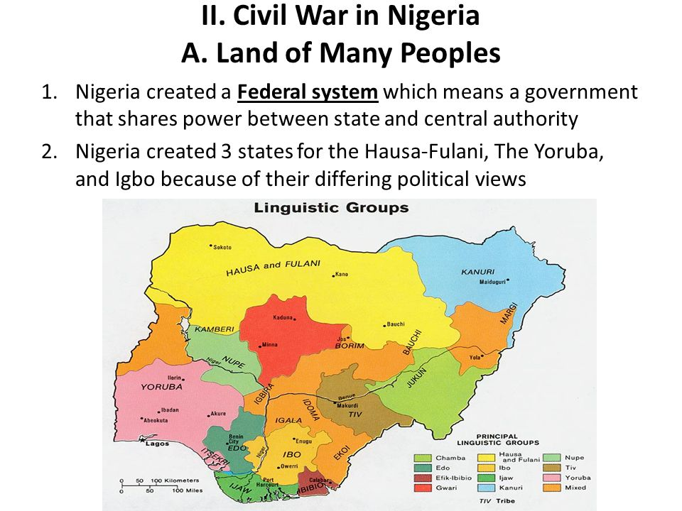 II. Civil War in Nigeria A. Land of Many Peoples