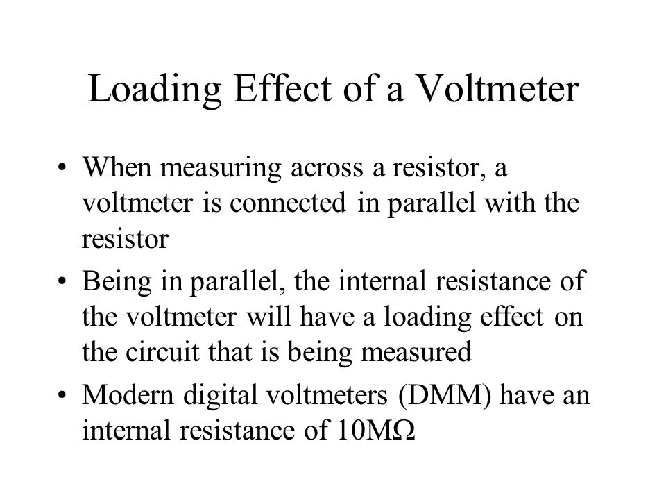 Loading Effect of a Voltmeter