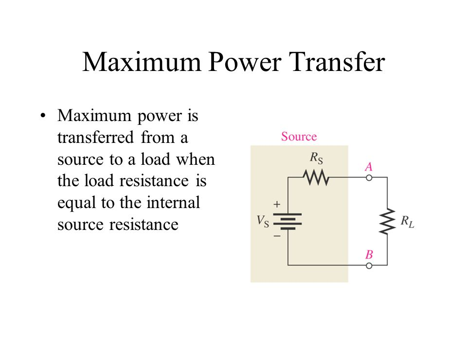 Maximum Power Transfer