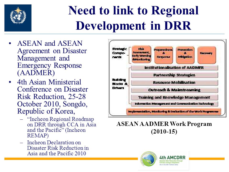 Need to link to Regional Development in DRR